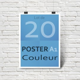 Lot de 20 affiches/posters A1