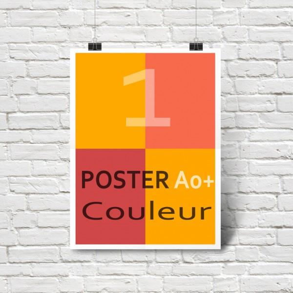 Affiche/Poster en couleurs A0+