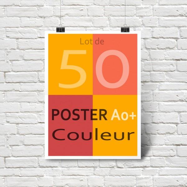 Lot de 50 affiches/posters A0+