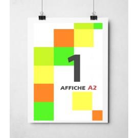 Affiche en couleurs A2