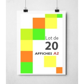 Lot de 20 affiches en couleurs A2