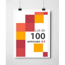 Lot de 500 affiches A3 couleurs