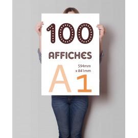 Lot de 100 affiches A1 en couleurs