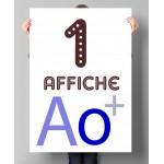 Affiche ou poster en couleurs A0+