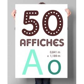 Lot de 50 affiches A0 en couleurs