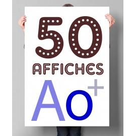 Lot de 50 affiches en couleurs A0+