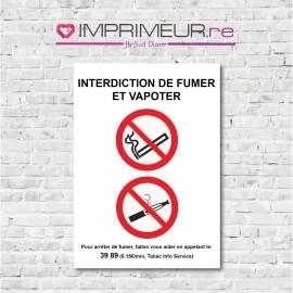 interdiction de fumer et vapoter