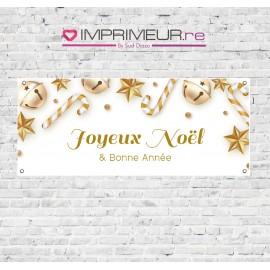 """Banderole sucres d'orge """"Joyeux Noël & Bonne Année"""""""