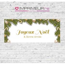 """Banderole """"Joyeux Noël & Bonne Année"""" sapin"""