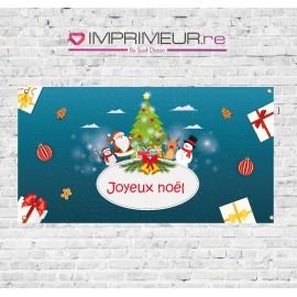 "Banderole ""Joyeux Noël"" avec Père Noël"