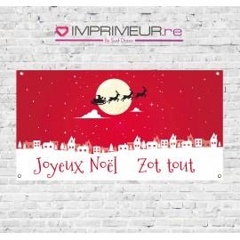 """Banderole """"Joyeux Noël zot tout"""""""