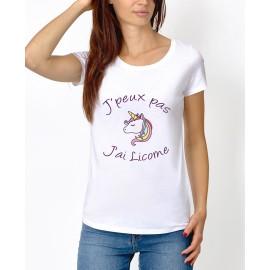 """Tee-shirt : """" J'peux pas j'ai licorne """""""