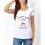 """Tee-shirt : """" J'peux pas j'suis fauché """" - Femme"""