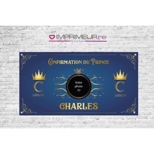 Banderole Communion prince avec photo