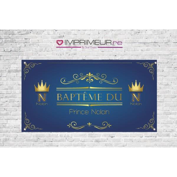 Banderole Baptême prince