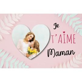 Idée cadeau fête des mères : montage Photo collée sur une plaque de Kapafix