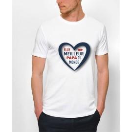"Tee-shirt : "" Meilleur papa"""