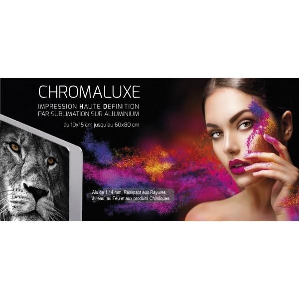 Photo sur plaque en aluminium ChromaLuxe