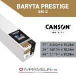 CANSON® INFINITY BARYTA PRESTIGE 340 G/M² - BARYTA BRILLANT